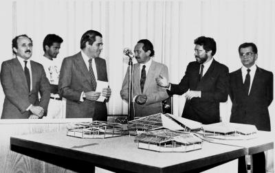 A sede do Inep na Universidade de Brasília - 1988